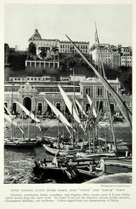 1930 Print Bahai Brazil Upper Lower Town Divide Port Short Boats Harbor NGM7