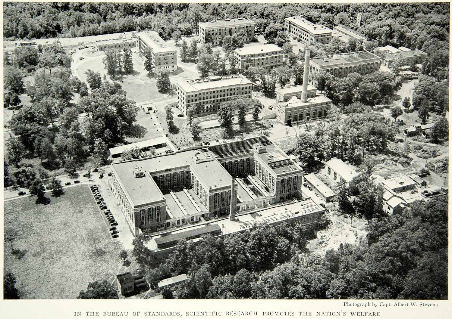 1931 Print Bureau of Standards Scientific Research Building Aerial View NGM8