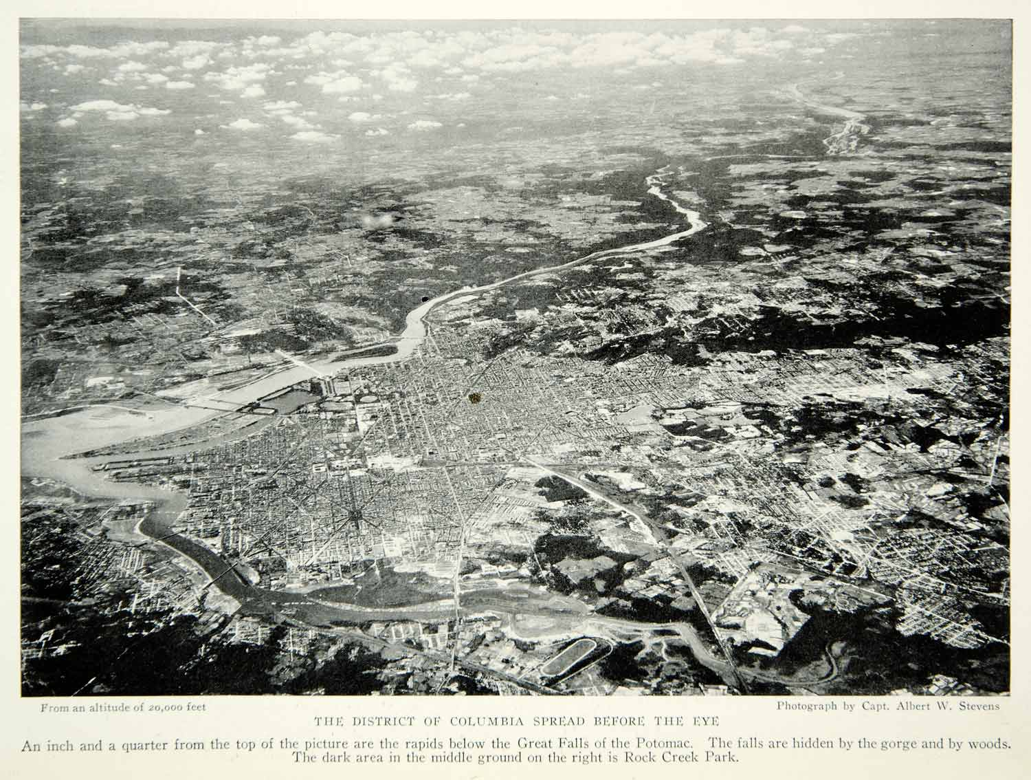1931 Print Aerial View Washington D.C. Capital Potomac River Historical NGM8