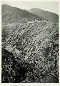 1926 Print Tungchuling Temple Yangtze River China Landscape Historical View NGM9