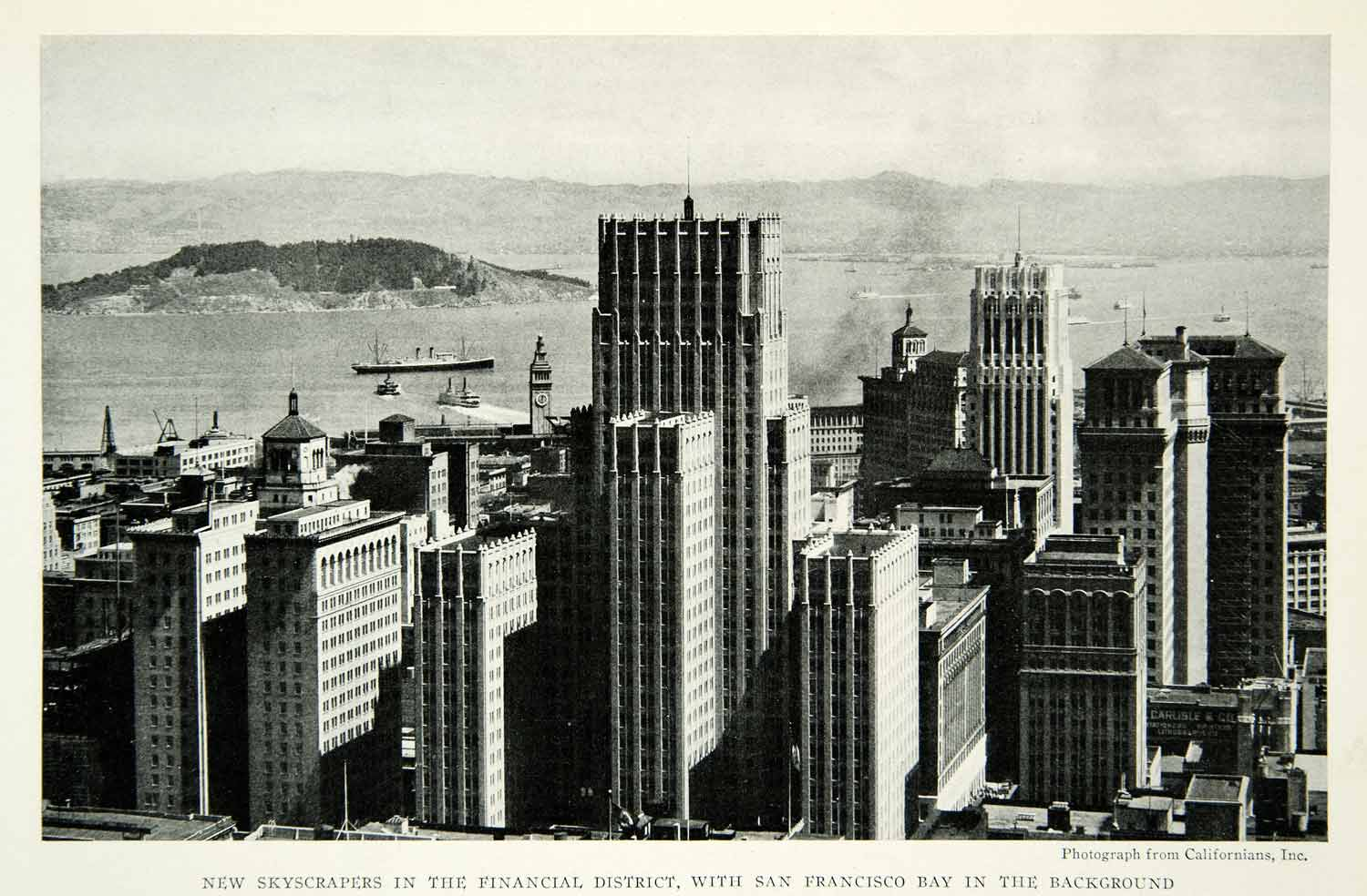 1932 Print San Francisco Skyscrapers Financial District Bay View Historic NGM9