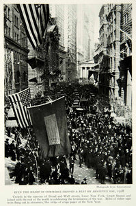 1929 Print Broad Wall Street Armistice Day World War One Historical Image NGM9