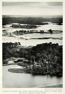 1929 Print Papua New Guinea Landscape Lake Murray Historical Aerial View NGM9