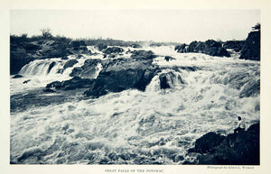 1926 Print Great Falls Potomac River Waterway Landscape Historical Image NGM9