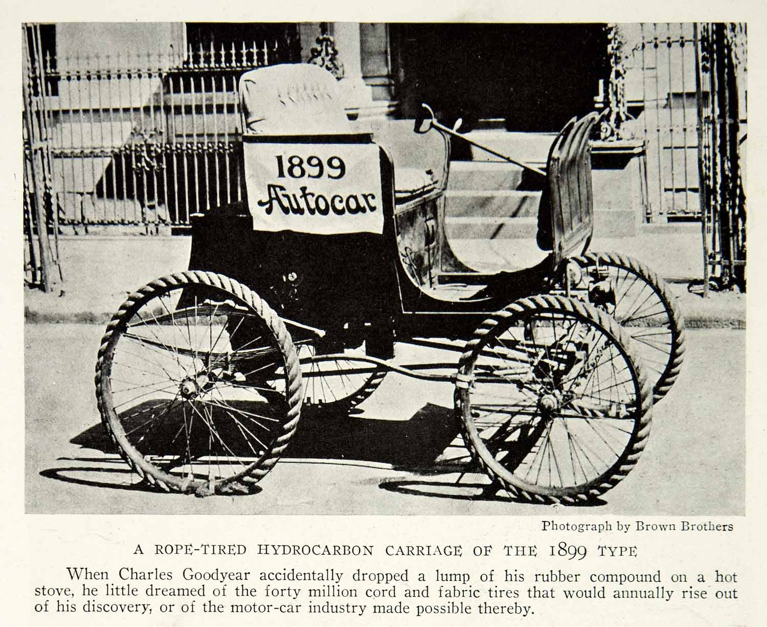 1923 Print Autocar Rope Tires Hydrocarbon Carriage Type 1899 Historical NGMA1