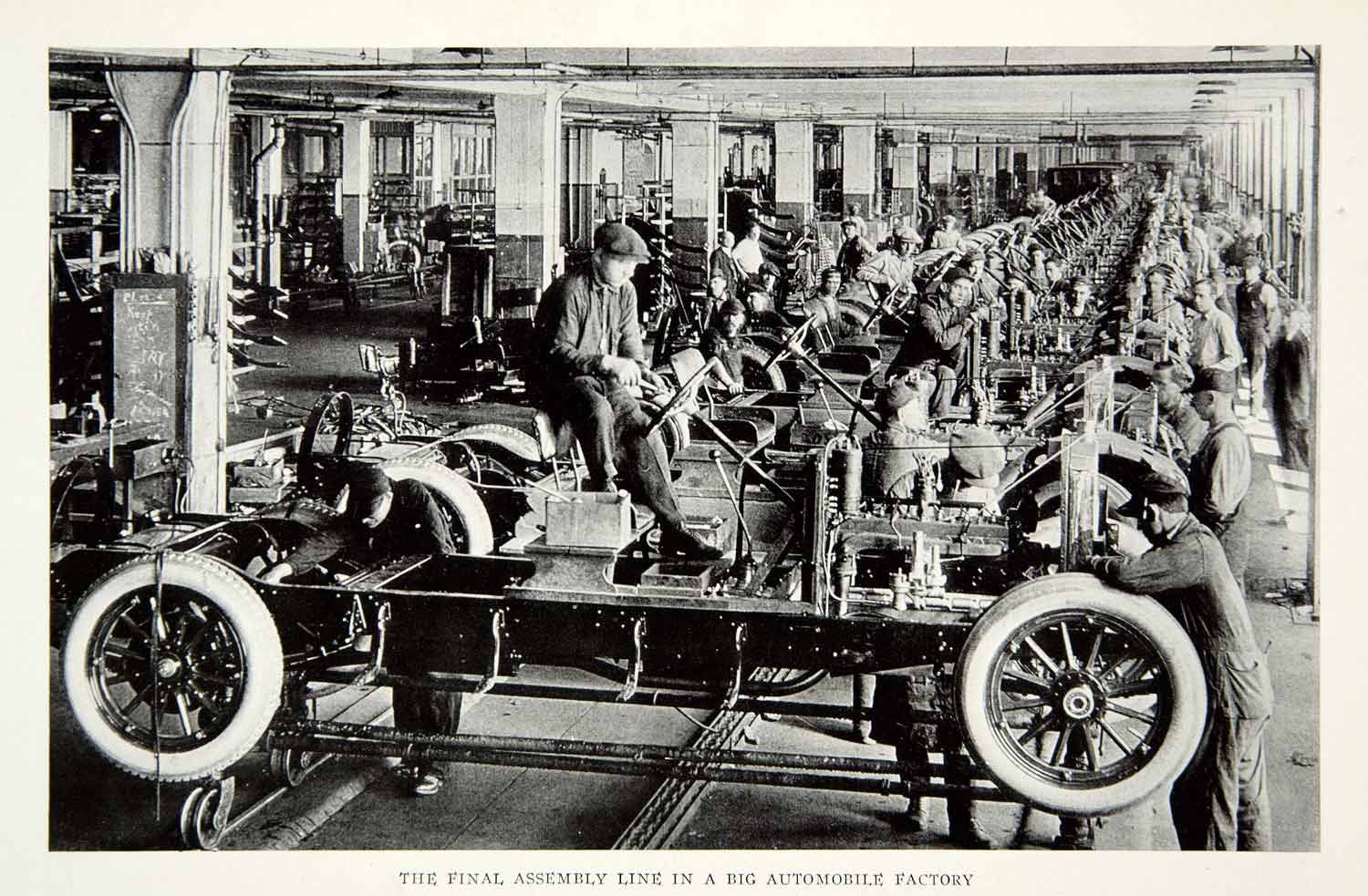 1923 Print Assembly Line Automobile Factory Plant Car Vehicle Workers NGMA1