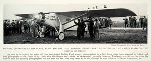 1928 Print Colonel Lindbergh Spirit St. Louis Nonstop Flight Capital NGMA1