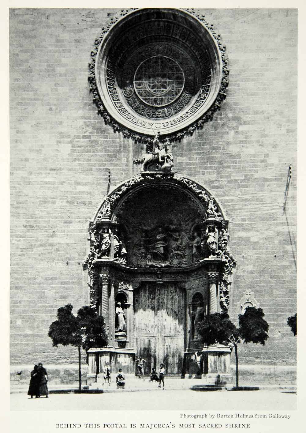 1928 Print Architecture Church San Francisco Majorca Shrine Cathedral NGMA1