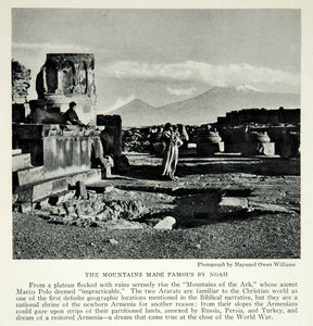 1928 Print Mountains Ark Landscape Ruins Turkey Archeology Historical View NGMA2