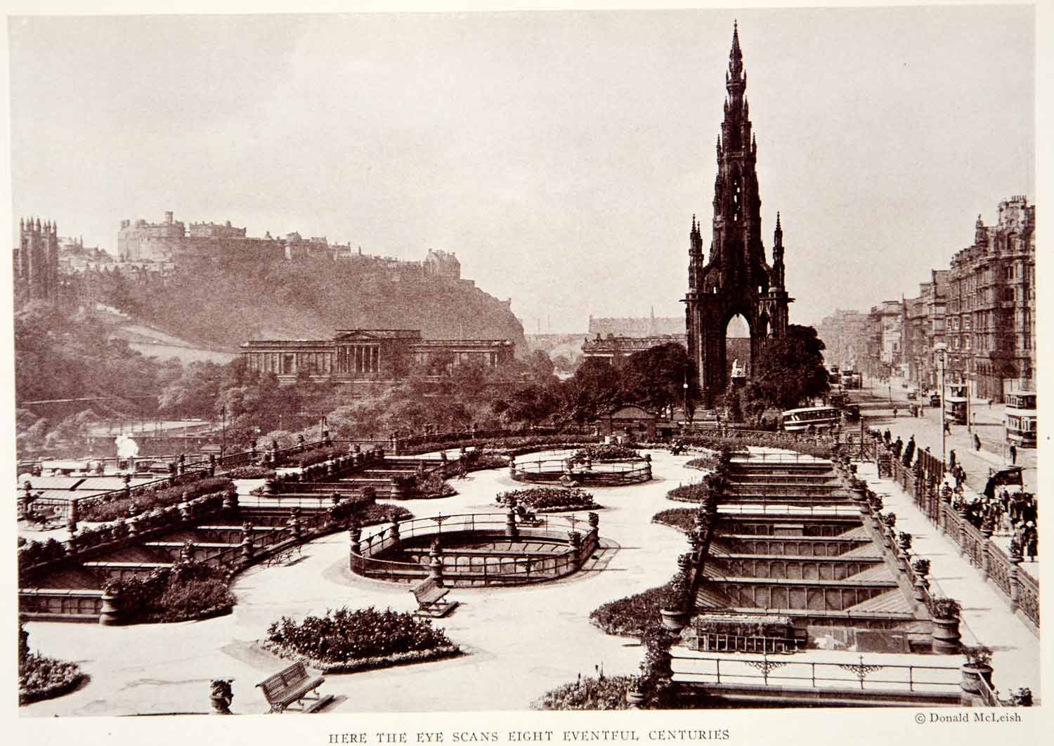 1932 Print Princes Street Edinburgh Scotland Architecture Historical Image NGMA2