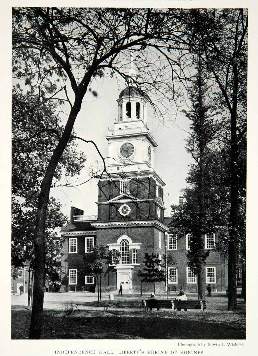 1932 Print Independence Hall Philadelphia Pennsylvania Architecture Image NGMA2