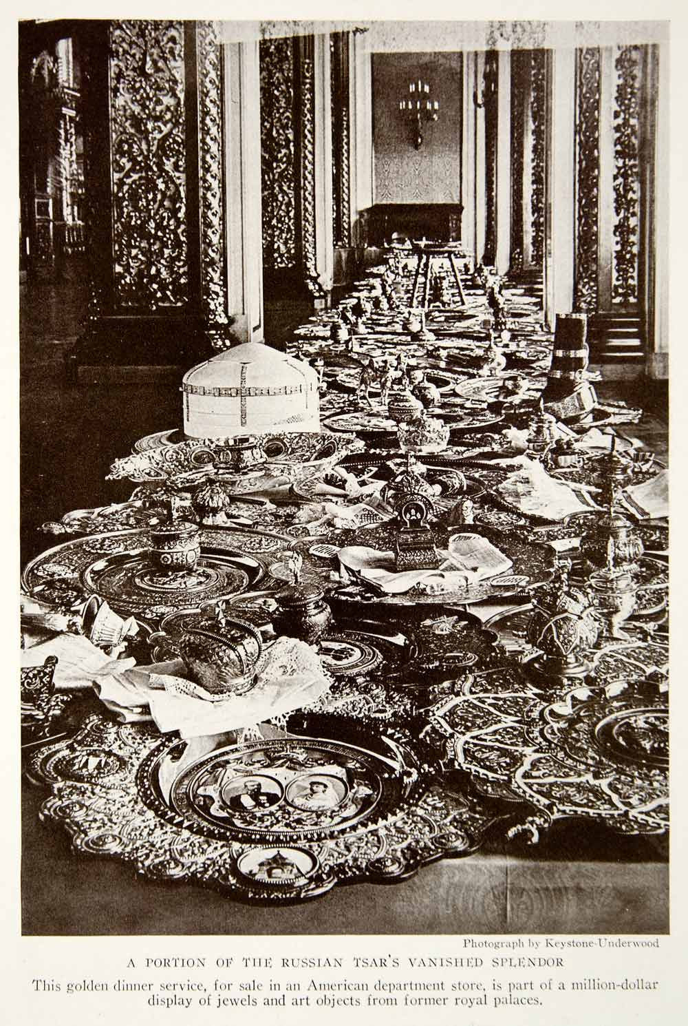 1933 Print Russian Tzar Alexander Dinner Service Dishes Plates Wealth NGMA3