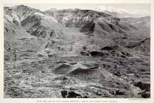 1934 Print Valley Volcanoes Andagua Mountains Landscape Historical Image NGMA3
