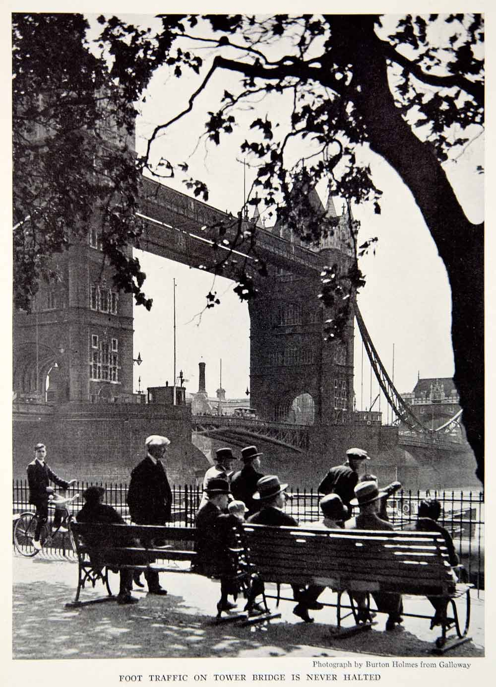 1934 Print Tower Bridge London England Thames River Crossing Architecture NGMA3