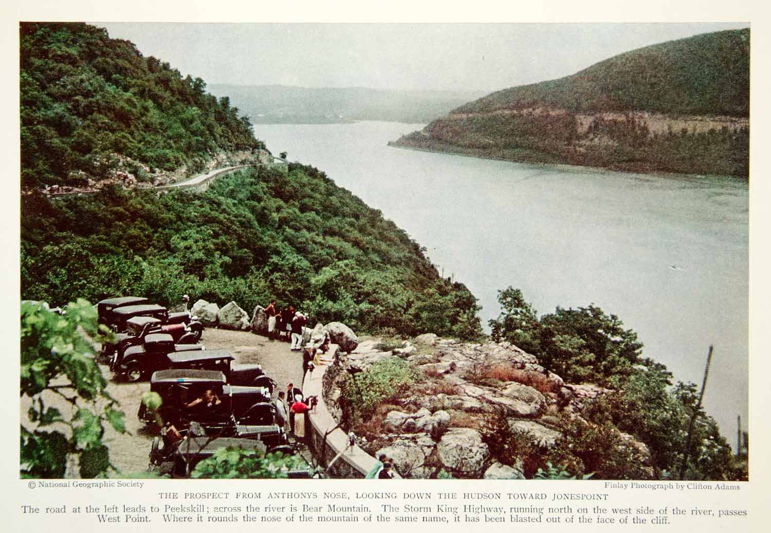 1933 Color Print Jonespoint Hudson River View Landscape New York State NGMA3