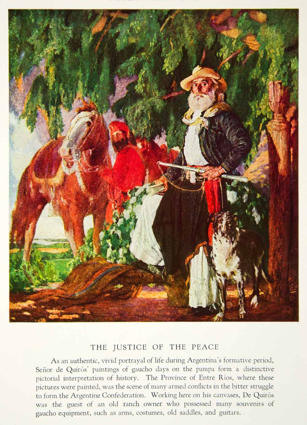 1933 Color Print Justice Of The Peace Cesareo Bernaldo Argentine Artist NGMA3
