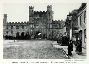 1935 Print Battle Abbey Norman William Conquerer Hastings England Fortress NGMA5