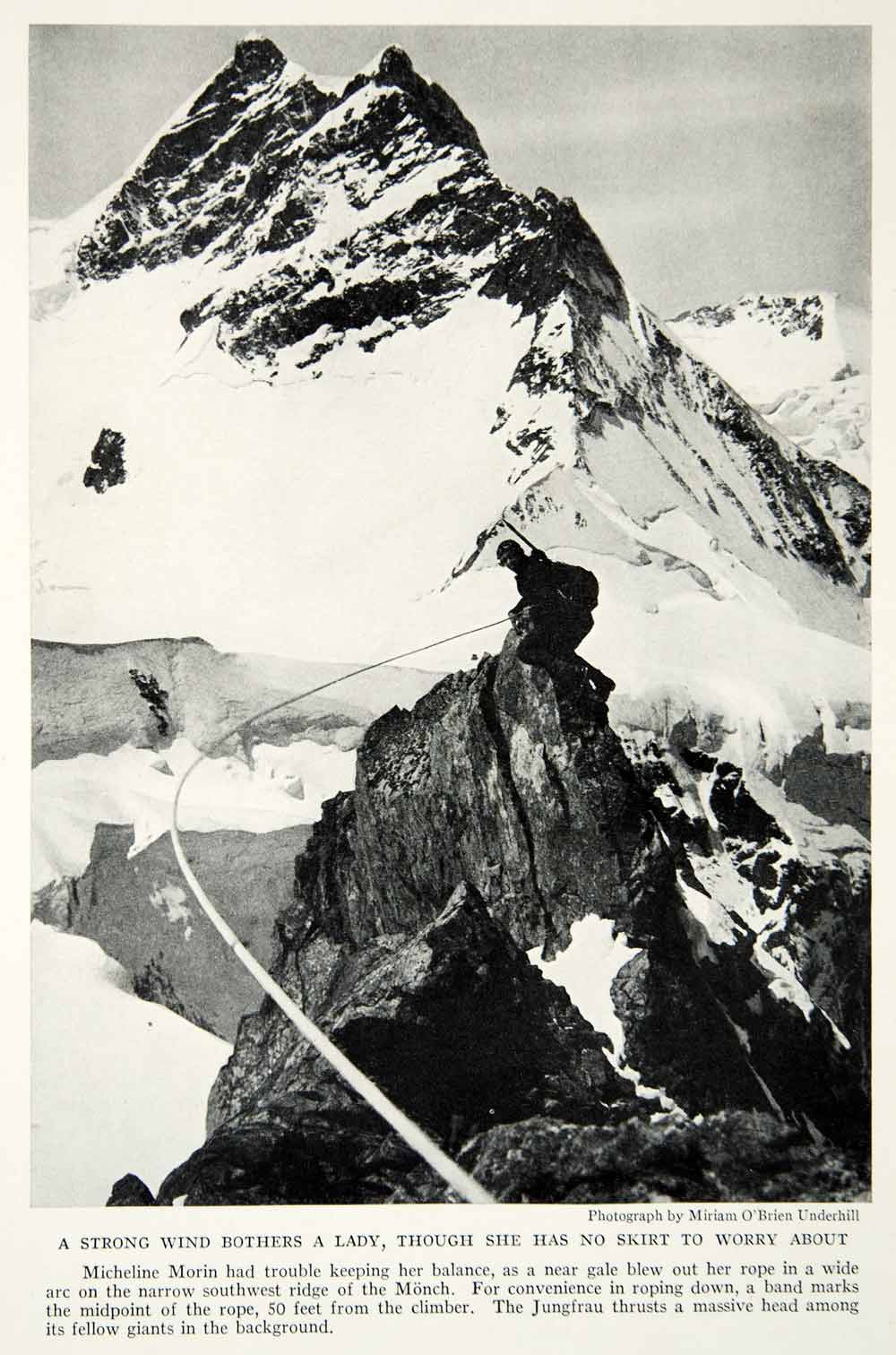 1934 Print Micheline Morin Monch Junnfrau Bernese Alps Landscape Mountains NGMA6