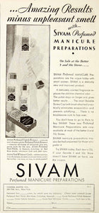 1931 Ad Sivam Perfumed Manicure Preparations General Aseptic 580 Fifth Ave NMM1