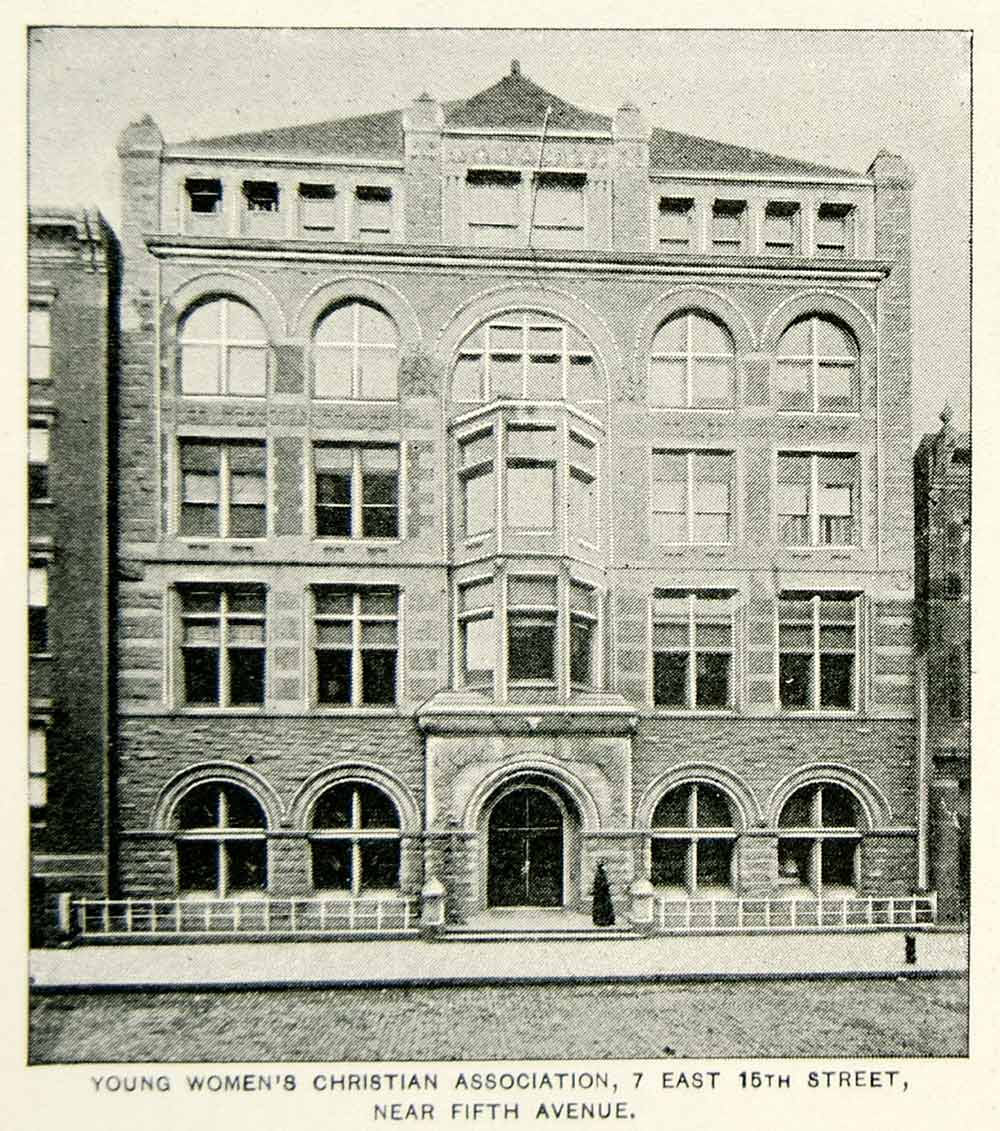 1893 Print Young Women's Christian Association YWCA 7 East 15th Street NYC NY2A