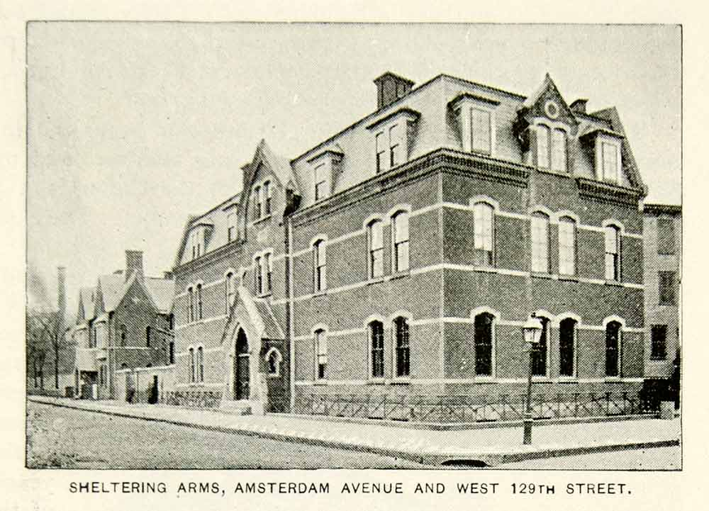 1893 Print Sheltering Arms Building Charity Amsterdam Avenue New York City NY2A