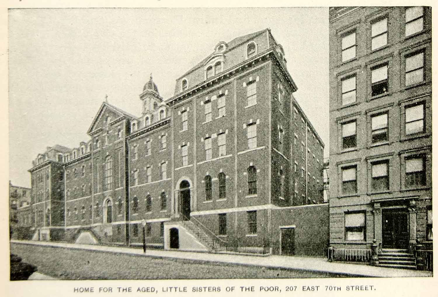 1893 Print Home for the Aged Little Sisters of the Poor 207 East 70th NYC NY2A