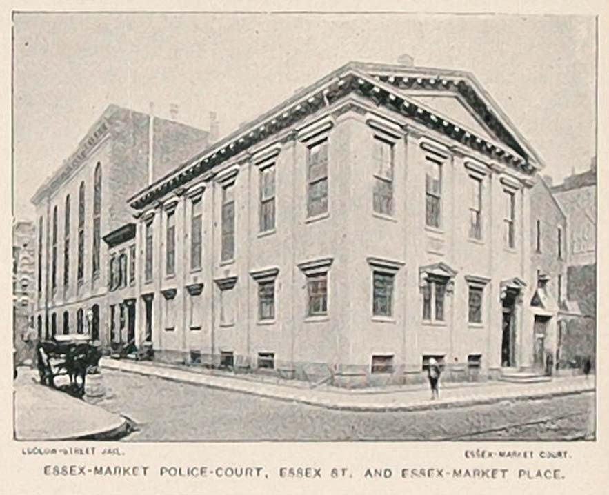 1893 Print Essex Market Police Court New York City NYC ORIGINAL HISTORIC NY2