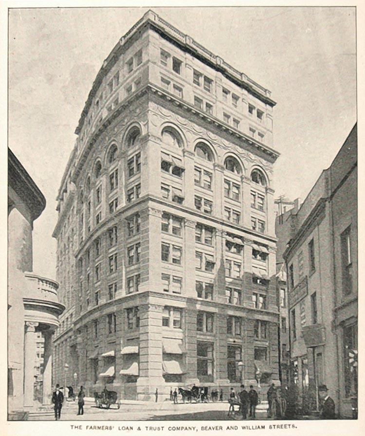 1893 Print Farmers Loan Trust Building New York City - ORIGINAL HISTORIC NY2