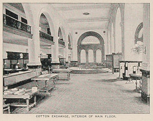 1893 Print Cotton Exchange Bldg. Interior New York City ORIGINAL HISTORIC NY2