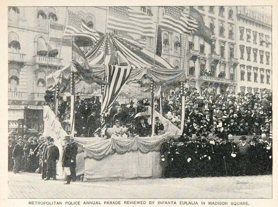 1893 Print Metropolitan Police Parade New York City - ORIGINAL HISTORIC NY2