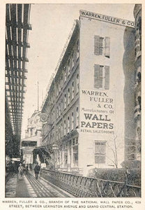 1893 Print Warren Fuller Wallpaper Building New York National Wall Paper NY2