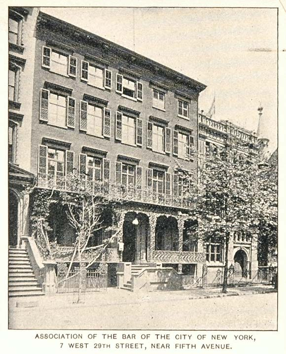 1893 Print Association of the Bar Building New York NYC ORIGINAL HISTORIC NY2