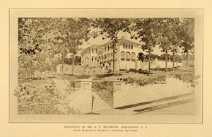 1909 Englewood New Jersey Home B. F. Reinmund Print - ORIGINAL HISTORIC NY6