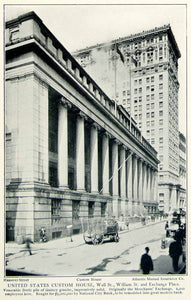 1903 Print Custom House Wall Street Doric Colonnade Architecture Manhattan NYV1