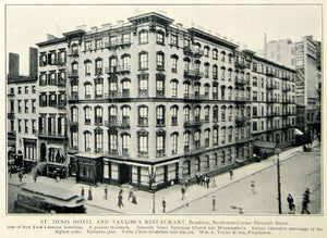 1903 Print St. Denis Hotel William Taylor Restaurant Broadway Eleventh NYV1