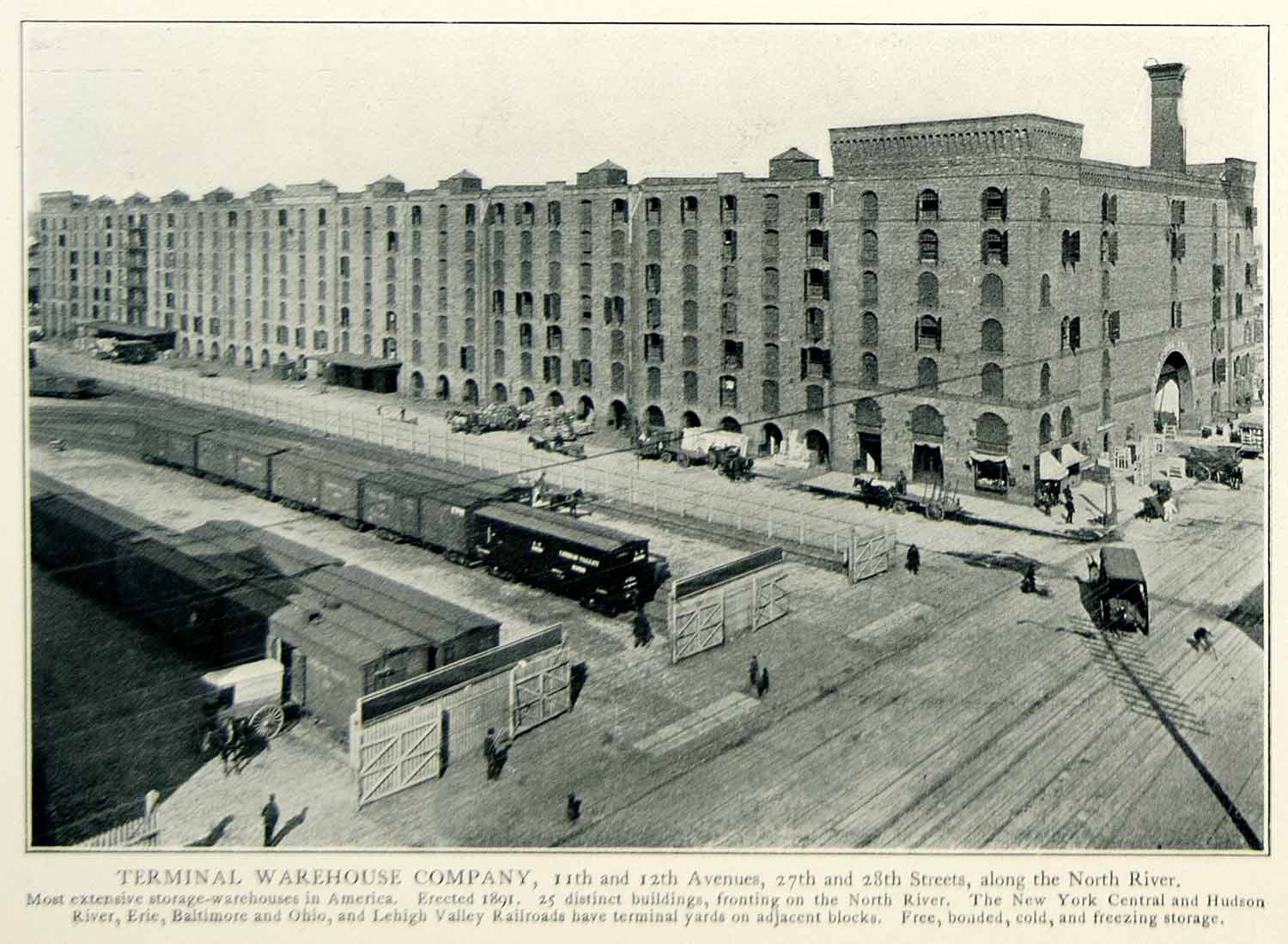1903 Print Terminal Warehouse 11th Avenue New York Historical Image NYV1