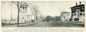 1903 Print Riverside Drive Soldiers Sailors Monument Stoughton Isaac Rice NYV1