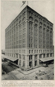 1903 E. R. Durkee Building 524 Washington St. NYC Print ORIGINAL HISTORIC NY