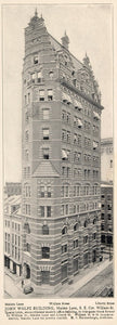 1903 John Wolfe Building Maiden Lane William NYC Print ORIGINAL HISTORIC NY