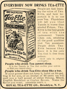 1901 Ad Antique Royal Tea-Ette Tea Oolong Tannin Drink - ORIGINAL OD1