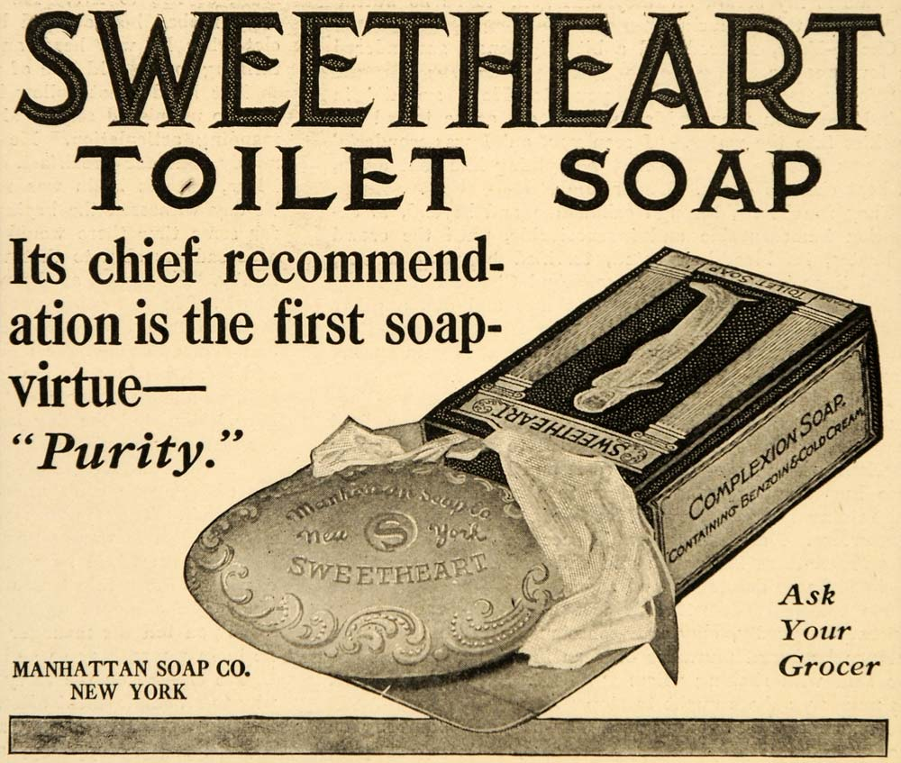 1909 Ad Sweetheart Toilet Soap Manhattan Complexion - ORIGINAL ADVERTISING OD2