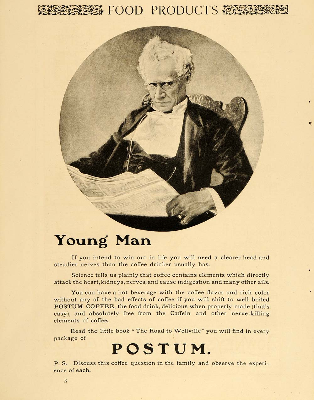 1904 Vintage Ad Postum Coffee Substitute Caffeine Free - ORIGINAL ADVERTISING