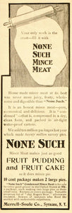 1901 Vintage Ad None Such Mince Meat Pie Merrell Soule - ORIGINAL ADVERTISING