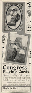 1903 Original Ad Congress Toboggan Kite Playing Cards - ORIGINAL OLD3