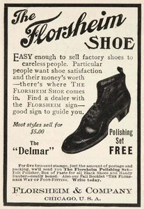 1903 Original Vintage Ad Florsheim Men Shoe Delmar - ORIGINAL ADVERTISING OLD3