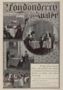 1903 Ad Londonderry Lithia Spring Water Dining Rooms - ORIGINAL ADVERTISING OLD3