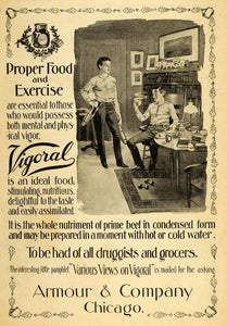 1898 Vintage Ad Vigoral Health Food Beef Tonic Armour - ORIGINAL OLD4A