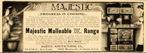 1901 Vintage Ad Majestic Malleable Range Stove Antique - ORIGINAL OLD4A