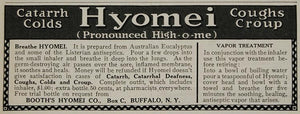 1911 Ad Booth Hyomei Vapor Quackery Cough Treatment - ORIGINAL ADVERTISING OLD4