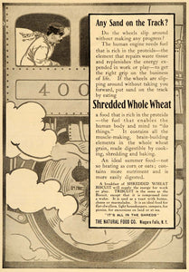1907 Vintage Ad Shredded Whole Wheat Biscuit Train - ORIGINAL ADVERTISING OLD5
